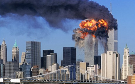 The World Trade Center collapses