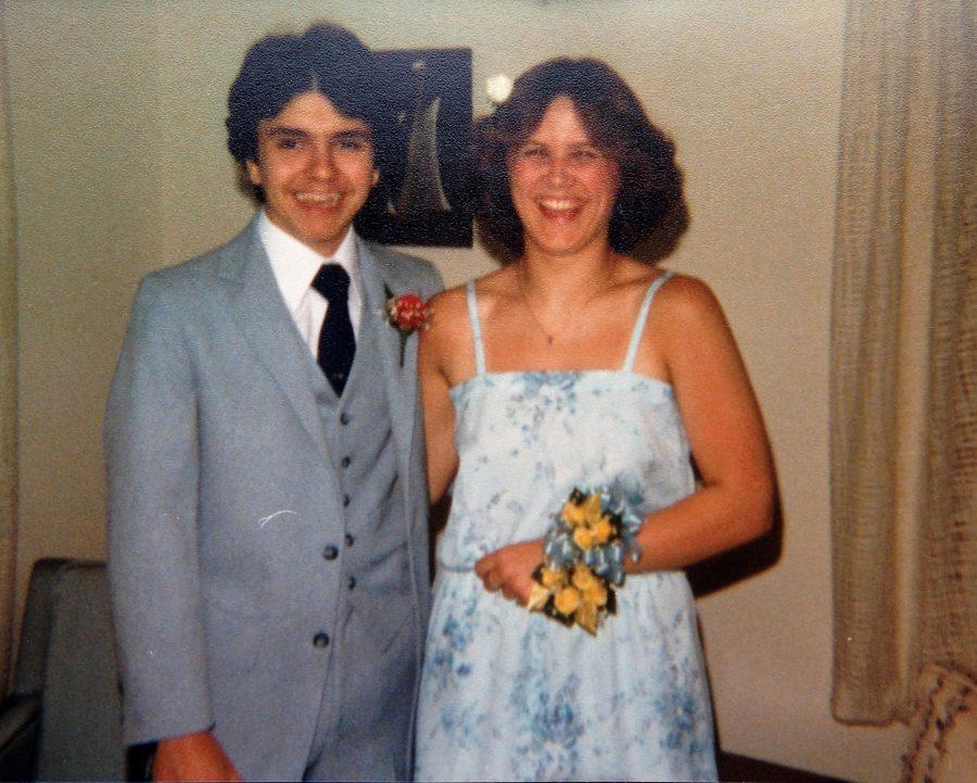 Math teacher Trish Middleton at her senior prom in '82.
