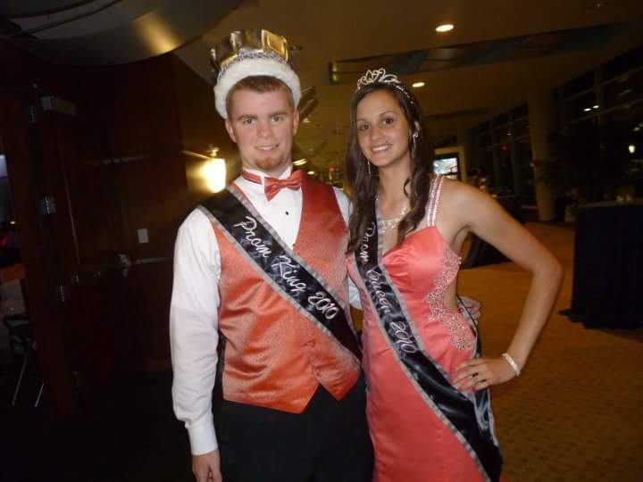 World History teacher Edward Martin was prom king at his senior prom in '10. His date is now his fiancée.