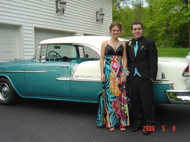 Social Studies Department teacher Randi Jones at her senior prom in '08. Her date was her high school boyfriend.