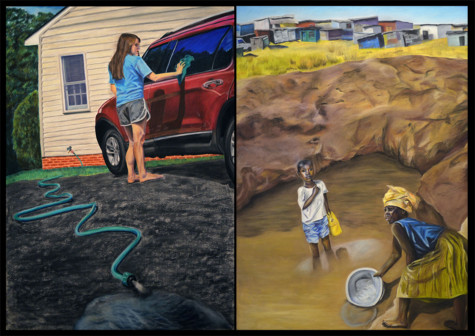 Kelsey Andersons painting juxtaposes societies. It will become part of Superintendent S. Dallas Dances collection.