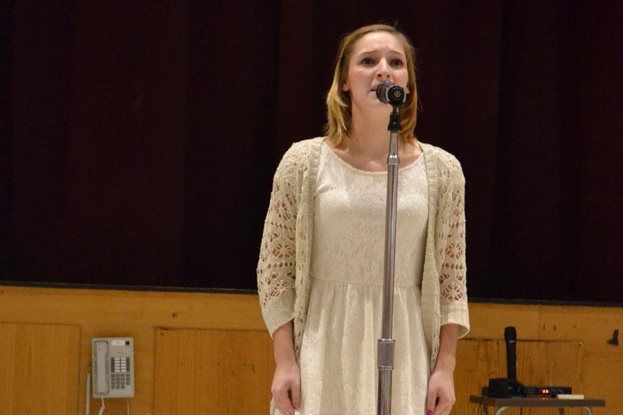 Adriana Culotta ('15) recites