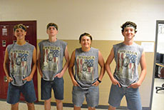 Max Herbkerbsman ('18), Brady Mcgee ('18), Sam Wannamaker ('18), Noah Wisner ('18.)