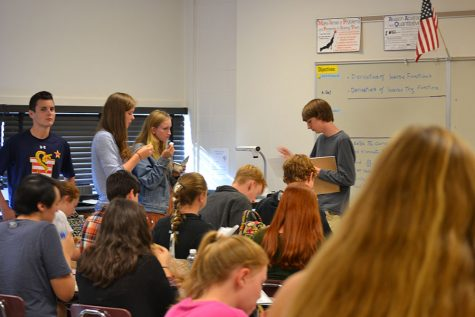 Students prepare for the Annual University of Maryland High School Mathematics Competition on Wednesday Oct. 26. The competition has been held for the past 38 years.