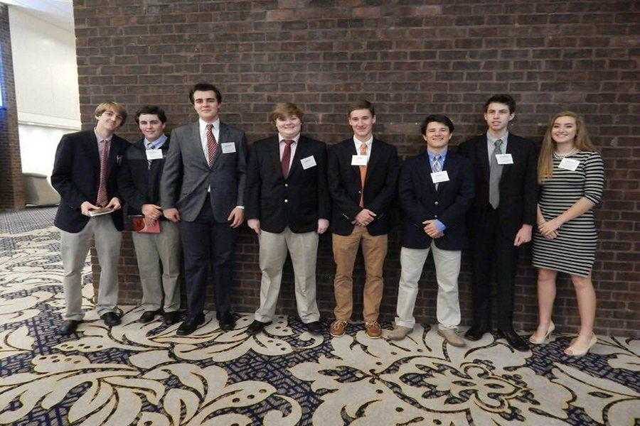 FBLA students line up for a picture while attending the FBLA Student Leadership Conference.