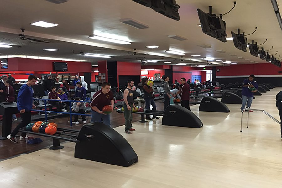 Allied Bowlers converse and bowl together. They competed at the Championships on Feb 15