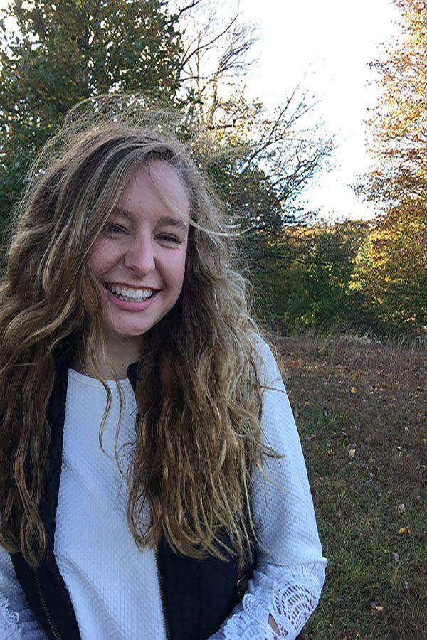 Lexi Thompson ('17) hikes in the Loch Raven woods. She smiled after her most recent expedition.