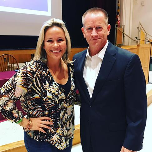 Julia Edwards and Keith Mills are recovering drug addicts that took the time to talk to students about drug and alcohol addiction at an assembly.