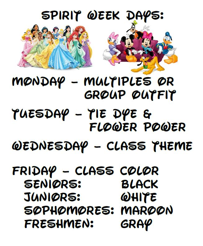 Spirit+Week+Schedule