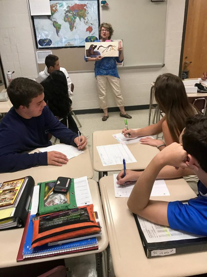 """""""It was interesting to see the different perspectives and how it influences what we think,"""" Logan Kauffman ('20) said. """"It was more fun than reading a textbook."""" """"We started from the basics and we're building up from it,"""" Emily Arnold ('20) said."""