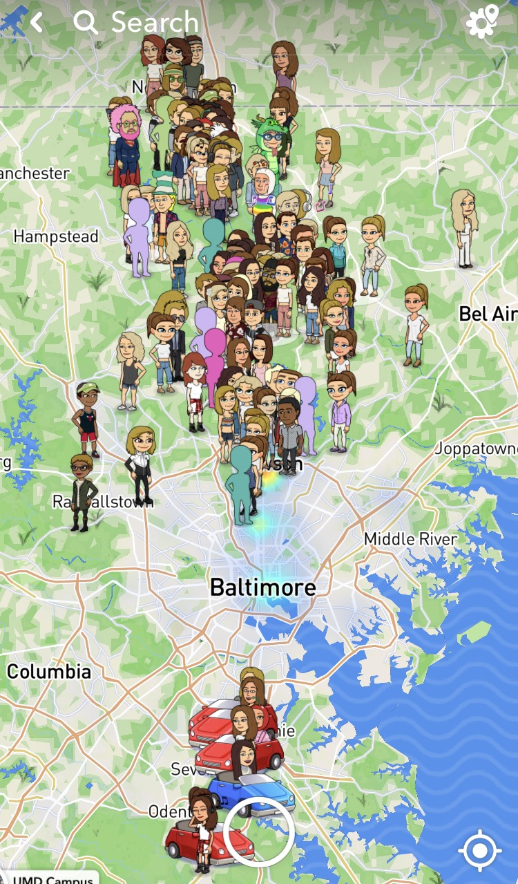 How to see all friends on snapchat map