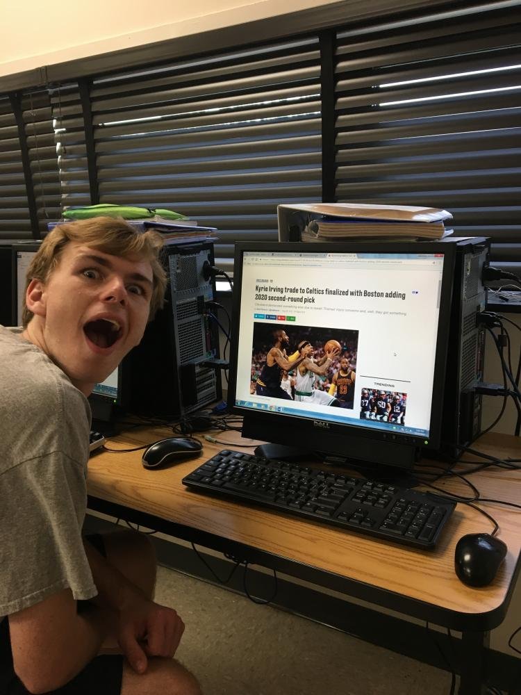Brady McGee ('18) , was in awe when he heard about the Kyrie Irving trade.