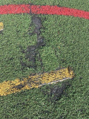 The turf has multiple divots, rips, and holes. This exposes athletes to harmful infections and diseases.