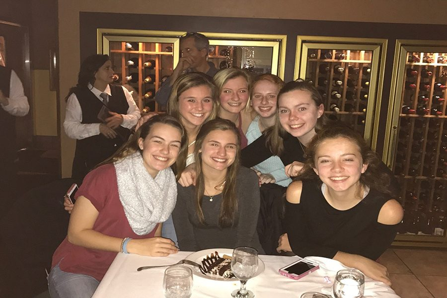+Nicole+sits+with+her+close+friends+while+she+enjoys+her+birthday+dinner.+Burkoski+was+appreciative+of+the+friends+that+came+to+support+her+because+she+values+friendship+the+most.