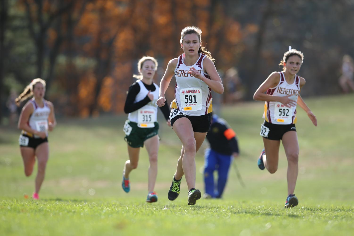 Burkoski finished the 2A Cross Country States ace in nineteenth place which helped her team take first place overall.