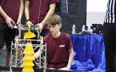 Brown controls his robot in the 201 VEX Maryland High School Championship Tournament. His team consisted of George Koutsoukos (
