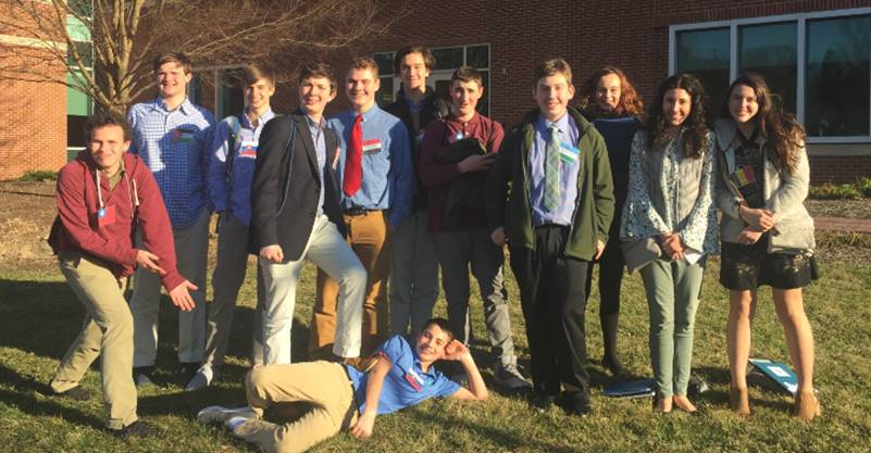 The freshmen Model U.N. team attend their first competition ever. They learned a lot and gained valuable experience.