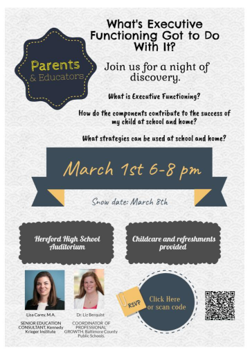 The meeting will cover the topics listed on the flyer. Dr. Lisa Carey and Kennedy Kreiger hosted this discussion on Mar. 1.