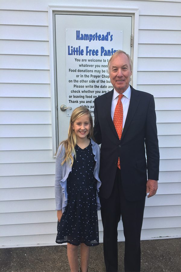 Mackenzie Greenwood is awarded he William Donald Schaffer Helping People Award by State Comptroller Peter Franchot. She was the youngest Marylander to win this award.