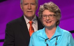 Terrie Trebilcock, a history teacher at Hereford, remembers her time on 'Jeopardy!' She remembered Alex Trebek as a
