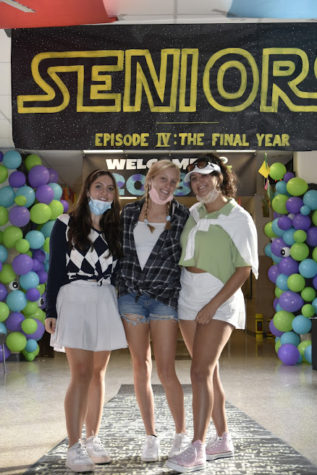 A few Senior students posed in their Star Wars themed hallway.